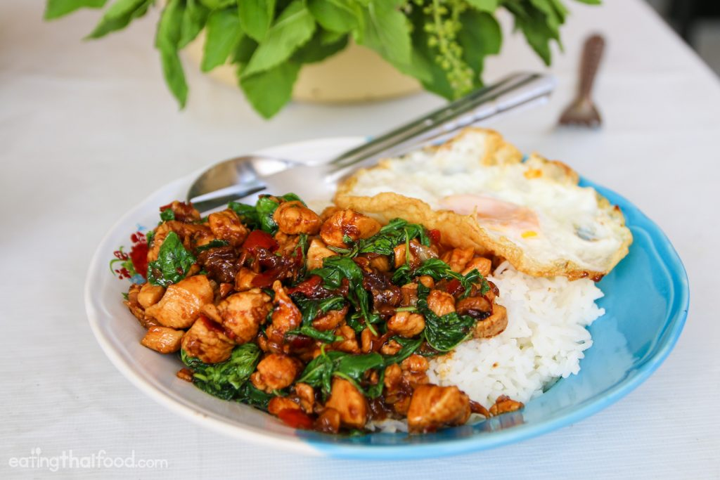 19. Thai Basil Chicken and Fried Egg (Pad Gra Pao Gai Kai Dao)