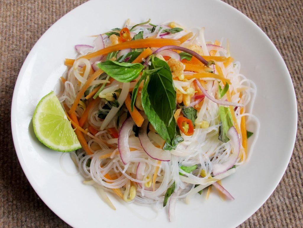 Mungbean Noodle Salad (Yam Woon Sen)