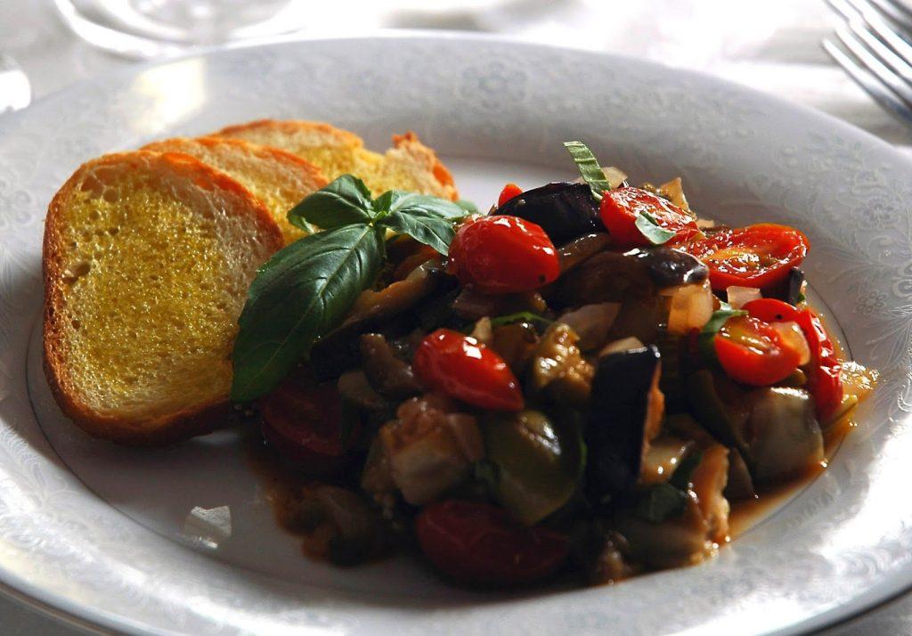 Sicilian Caponata with eggplant