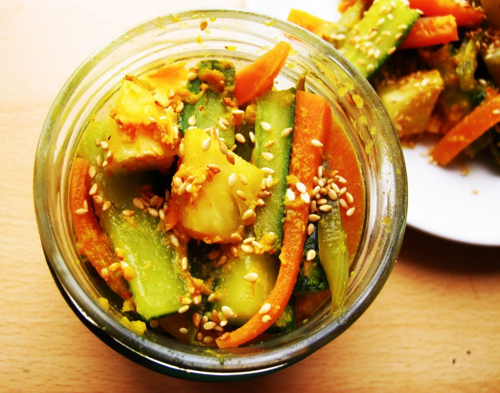 Simplified Nonya Achar (Peranakan Spicy Pickled Vegetables)