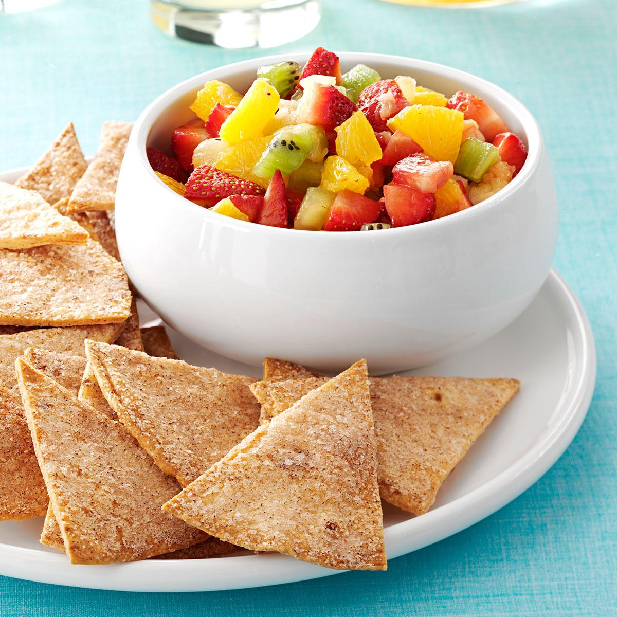 Fruit Salsa And Cinnamon Chips Recipe Food You Should Try
