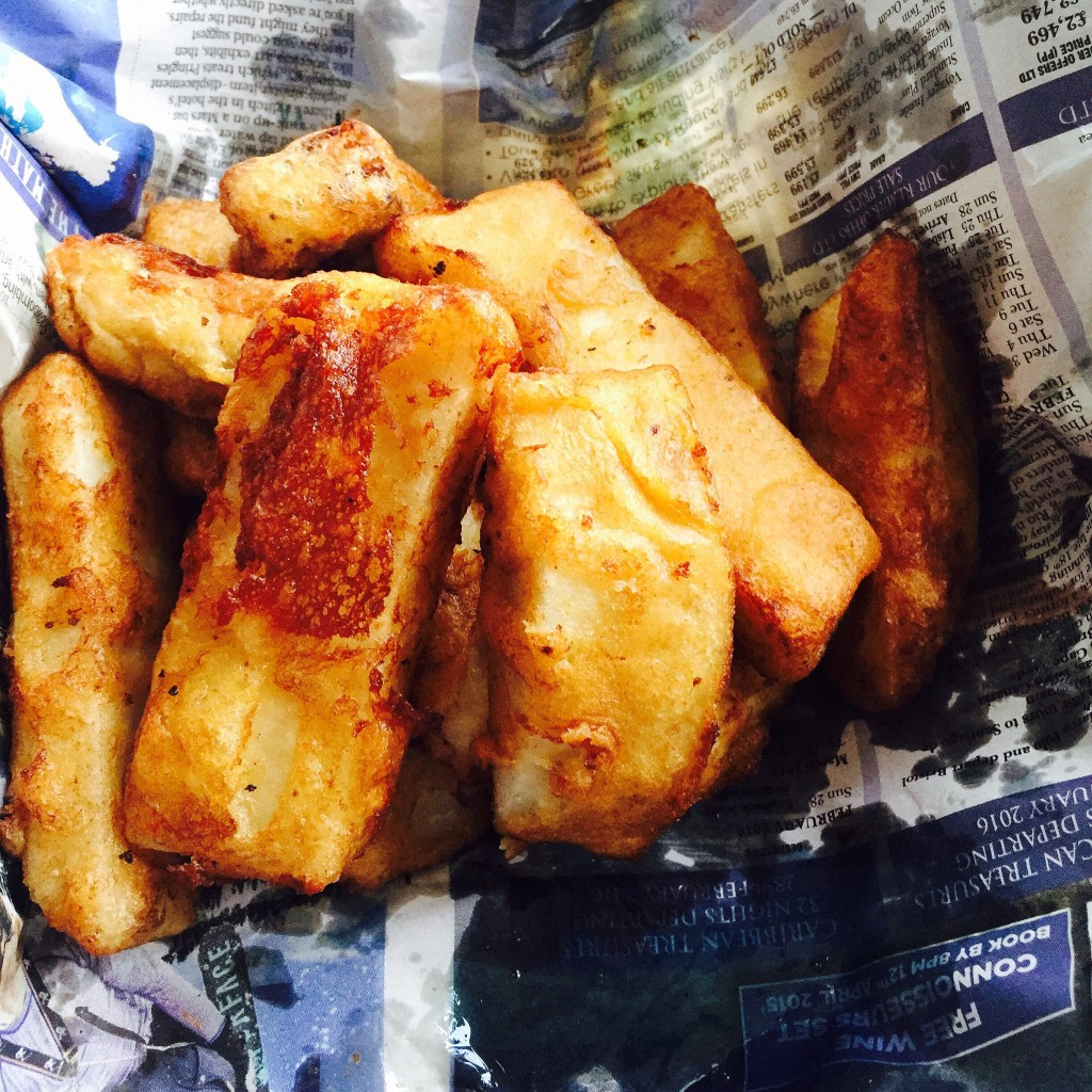 Deep-fried battered yams