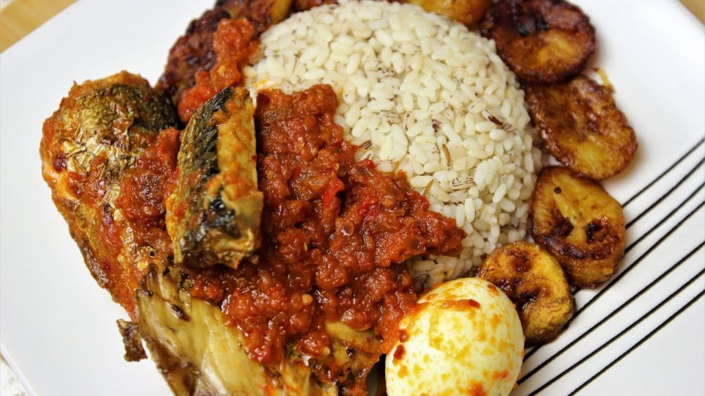 ofada rice and stew